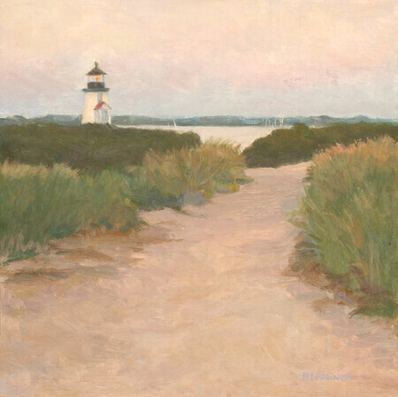 Brandt Point Lighthouse, Evening