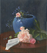 The Blue Bowl with Peony
